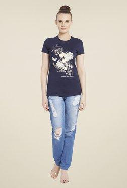 Globus Navy Graphic Print T-Shirt