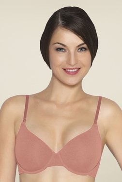 Amante Peach Padded Underwired T Shirt Bra