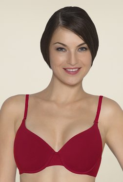 Amante Red Padded Underwired T Shirt Bra