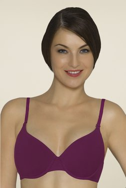 Amante Violet Padded Underwired T Shirt Bra