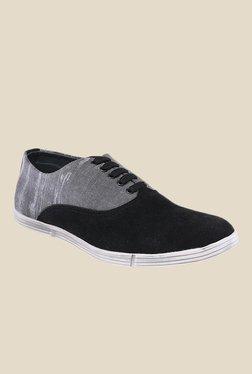 Spunk Zip Black & Grey Sneakers