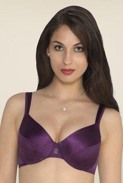 Amante Purple Non Padded Plunge Bra