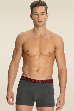 Jockey Charcoal Melange Boxer Brief - US20