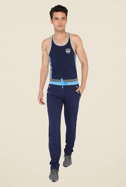 Chromozome Navy Solid Trackpants
