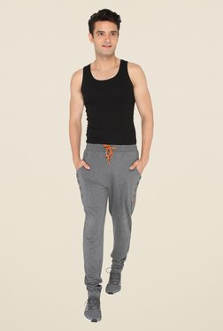 Chromozome Charcoal Solid Trackpants