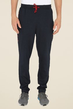 Chromozome Navy Solid Casual Trackpants