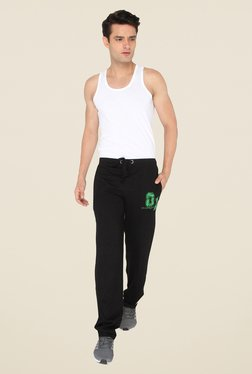 Chromozome Black Solid Casual Trackpants