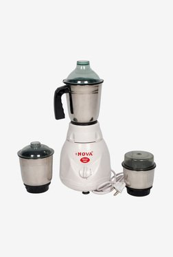 Nova N-120 1.5 Ltr 350 Watt Small Mixer Grinder (White)