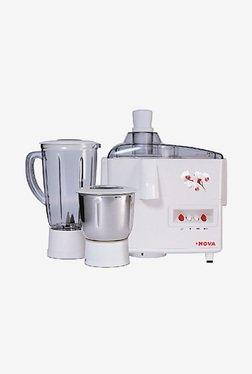 Nova N-123 EC 500 Watt 2 Jar Juicer Mixer Grinder (White)