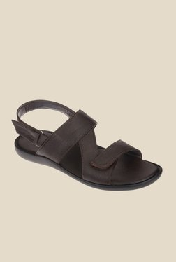Khadim's Brown Back Strap Sandals
