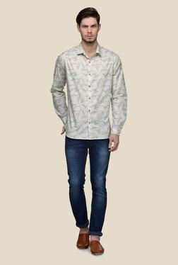 United Colors Of Benetton Beige Geometric Print Shirt