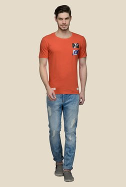 United Colors Of Benetton Orange Round Neck T-shirt