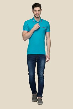United Colors Of Benetton Blue Polo Cotton T-shirt