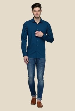 United Colors Of Benetton Blue Solid Shirt