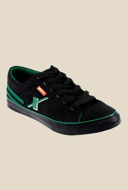 Sparx Black & Green Sneakers
