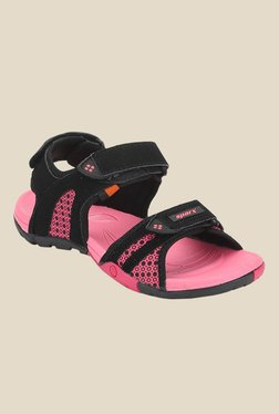 Sparx Black & Pink Floater Sandals