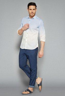 ETA By Westside Blue & White Slim Fit Shirt
