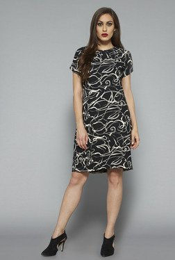 Wardrobe by Westside Black Printed Dress