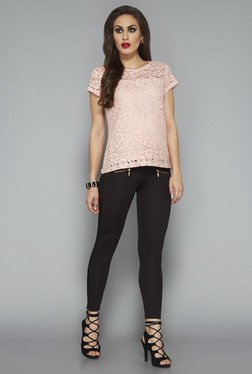 Wardrobe By Westside Pink Lace Top