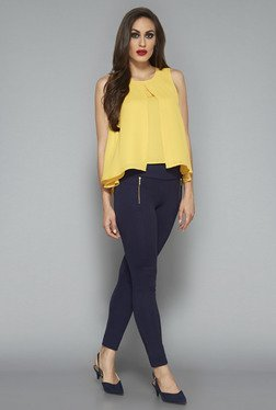 Wardrobe by Westside Yellow Solid Blouse