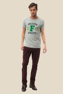 FCUK Grey Printed Crew Neck T Shirt