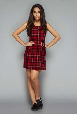 Nuon by Westside Red Checks Dress