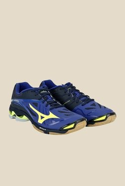 Mizuno Wave Lightning Z2 Blue & Yellow Sports Shoes