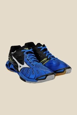 Mizuno Wave Tornado X Blue & Black Sports Shoes