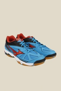 Mizuno Wave Hurricane 2 Blue & Black Sports Shoes