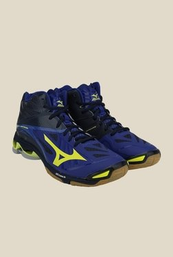 Mizuno Wave Lightning Z2 MID Navy Blue Volleyball Shoes
