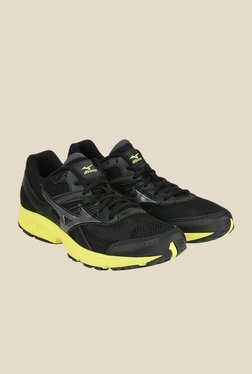 Mizuno Spark Black & Green Running Shoes