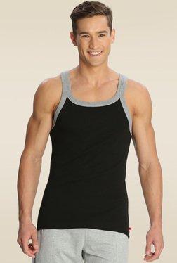 57881714f0b0f Jockey Black   Grey Melange Fashion Vest - US27