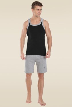 Jockey Black & Grey Melange Fashion Power Vest - 9927