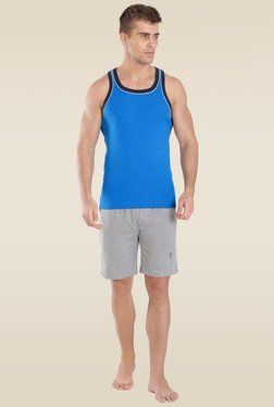 Jockey Neon Blue & Navy Fashion Power Vest - 9927