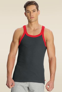 Jockey Graphite & Zone Red Fashion Vest - US27