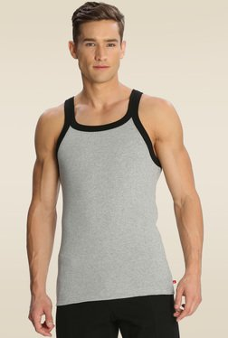 Jockey Grey Melange & Black Fashion Vest - US27