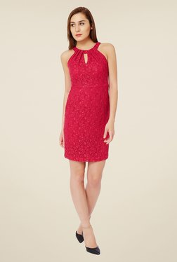 Avirate Pink Lace Dress