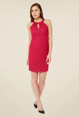Avirate Pink Lace Dress