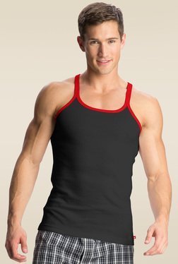 Jockey Black & Red Bias Metro Fashion Vest - US31
