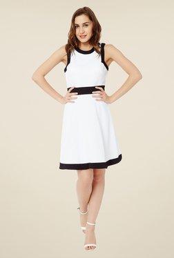 Avirate White Skater Dress