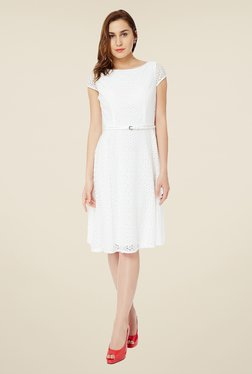 Avirate White Lace Dress
