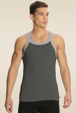 Jockey Charcoal Melange & Grey Melange Fashion Vest - US27
