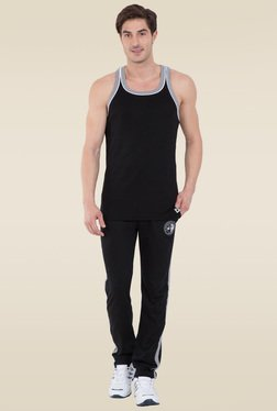 Jockey Black & Grey Melange Fashion Power Vest - 9925