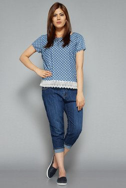 Sassy Soda by Westside Indigo Solid Capri