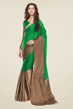 Salwar Studio Light Green Solid Saree