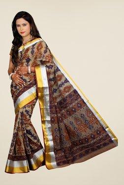 Salwar Studio Multicolor Gadwal Cotton Printed Saree