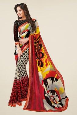 Salwar Studio Multicolor Weightless Georgette Printed Saree