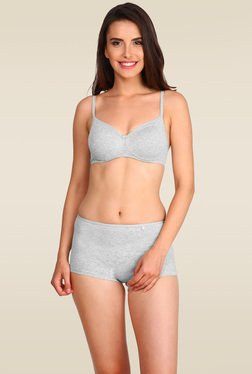 Jockey Light Grey Melange Non-wired Padded Bra - 1723
