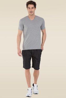 a3c011ab1609d Jockey Grey Melange V-Neck T-Shirt - 2726