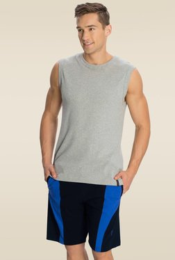 Jockey Navy & Neon Blue Knit Sport Shorts - 9411
